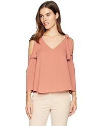 BCBGMAXAZRIA - Caralyne Cold-shoulder Top - Lyst