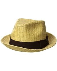 992f95032fe Lyst - Brixton Castor Straw Fedora Hat for Men - Save 12%