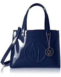 Lyst - Armani Jeans Shoulder Bag In Patent Faux Leather With Pendant ... 0ec87a6b39