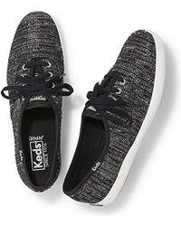 0938ce767bd Keds - Champion Lurex Stripe Fashion Sneaker - Lyst