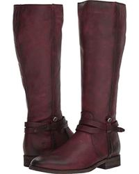 Frye - Melissa Belted Tall Knee High Boot - Lyst