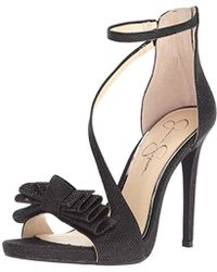 656e6a20c81 Lyst - Jessica Simpson Remyia Bow Dress Sandals in Black