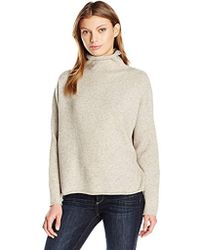 French Connection - Flossy Long Sleeve Loose Fit Solid Pullover Sweater - Lyst