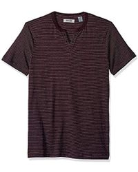 Kenneth Cole Reaction - Short Sleeve Eyelet Henley - Lyst