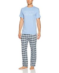 Kenneth Cole Reaction - Top And Flannel Bottom Pajama Set Pj - Lyst
