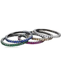 Noir Jewelry - Dover Stackable Ring - Lyst