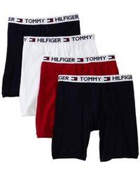 cbf70b971fec Tommy Hilfiger Cotton Stretch Boxer Brief 3-pack (black/black/black) Men's  Underwear in Black for Men - Lyst