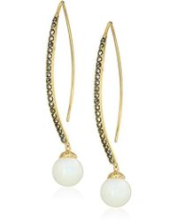 Judith Jack - Sterling Swarovski Marcasite Threader Drop Earrings - Lyst