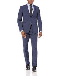 Original Penguin Slim Fit Suit - Blue