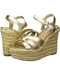 Steve Madden - Knight Espadrille Wedge Sandal (gold) Wedge Shoes - Lyst