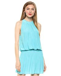 Ramy Brook Paris Sleeveless Mini Dress - Blue