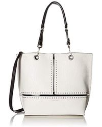 Calvin Klein - Sonoma Crushed Ore & Bubble Lamb Reversible North/south Tote - Lyst