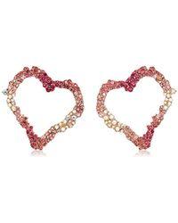 Betsey Johnson - S Open Gypsy Heart Earrings - Lyst