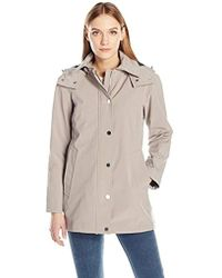Calvin Klein - Soft Shell Single Breasted Rain Trench Coat With Mesh Lining - Lyst