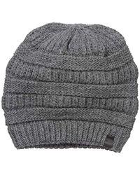True Religion - Chunky Ribbed Knit Beanie - Lyst