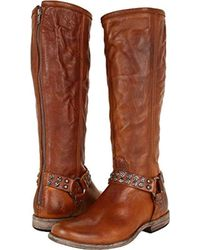 Frye - Phillip Studded Harness Tall Boot - Lyst