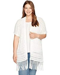 Jones New York - Plus Size Extend Slv Long Open Frt Cardigan - Lyst