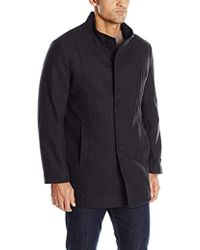 Tommy Hilfiger - Birch Single Breasted Funnel Neck Top Coat - Lyst