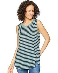 Michael Stars - S Riviera Stripe Shift Tank Top - Lyst