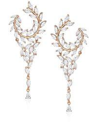 Nina - Jewelry Spring 2018 S E-catania(rose) Earrings, Rosegold/white Cz - Lyst
