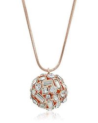 T Tahari - Rose Crystal Ball Pendant - Lyst