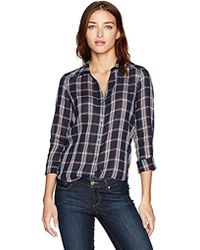 PAIGE - Kiernan Shirt Dark Ink Blue/baked Apple - Lyst