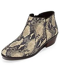 3ac9ba8e9 Lyst - Sam Edelman Petty Suede Ankle Boot in Natural