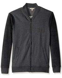 Calvin Klein - Jeans Velour Fleece Logo Bomber Jacket - Lyst