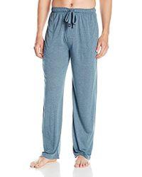 Izod - Rayon Poly Textured Knit Sleep Pant - Lyst