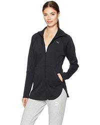 ff1c5cdb963e Lyst - PUMA Yogini Warmcell Hooded Jacket in Black