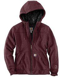 Carhartt - Rain Defender Rockland Quilt Lined Zip Hooded Sweatshirt - Lyst