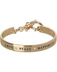 BCBGeneration - Bcbg Generation Love Peace Happiness Cuff Bracelet - Lyst