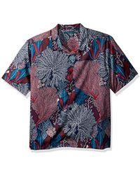 Perry Ellis Short Sleeve Camp-collar Shirt