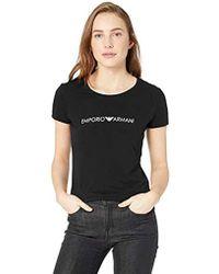 Emporio Armani - Iconic Logoband Crew Neck T-shirt, - Lyst