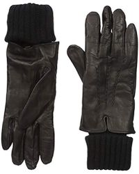 SOIA & KYO - Carmel-f6 Leather Glove With Fold-over Rib Knit Sleeve - Lyst