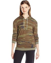Alternative Apparel - Eco Jersey Classic Printed Pullover Hoodie - Lyst
