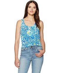 66b9e117c3fe84 Lyst - Lilly Pulitzer Nya Tank Top in Blue