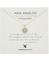 "Dogeared - Maya Angelou 2.0""i Encourage You To Live With Life. Cutout Starburst Pendant Necklace - Lyst"