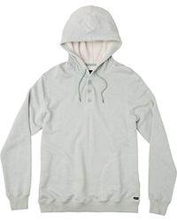 RVCA - Capo 3 Henley Hooded Sweatshirt - Lyst