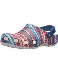 Crocs™ - Classic Graphic Casual Comfort Slip On Clogs, Lightweight Water, Gardening, Or Beach Shoe - Lyst
