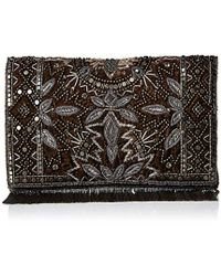 Mary Frances - Roaring 20s Antique Pewter Embellished Velvet Crossbody Clutch Handbag - Lyst