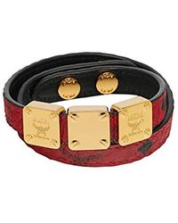 MCM - ()red Double Wrap Bracelet In Visetos - Lyst