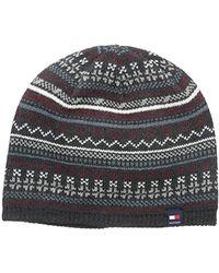 3f2497f0 Tommy Hilfiger Logo Beanie Hat Grey in Gray for Men - Lyst