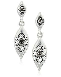 Napier - Silver-tone With Light Antique Double Post Drop Earrings - Lyst