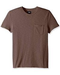 Hudson Jeans - Crewneck Pocket Tee Shirt - Lyst