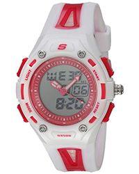 Skechers - Quartz Plastic And Polyurethane Casual Watch, Color:white (model: Sr2050) - Lyst