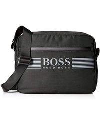 dc6655c53ae9 Lyst - Boss Leather Shoulder Bag   stoby  in Black for Men