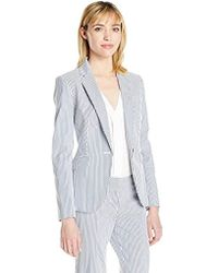 Nine West - Stripe 1 Button Jacket - Lyst