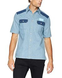 Calvin Klein - Short Sleeve Button Down Uniform Shirt - Lyst
