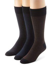 Ecco - 3 Pack Tone On Tone Socks - Lyst